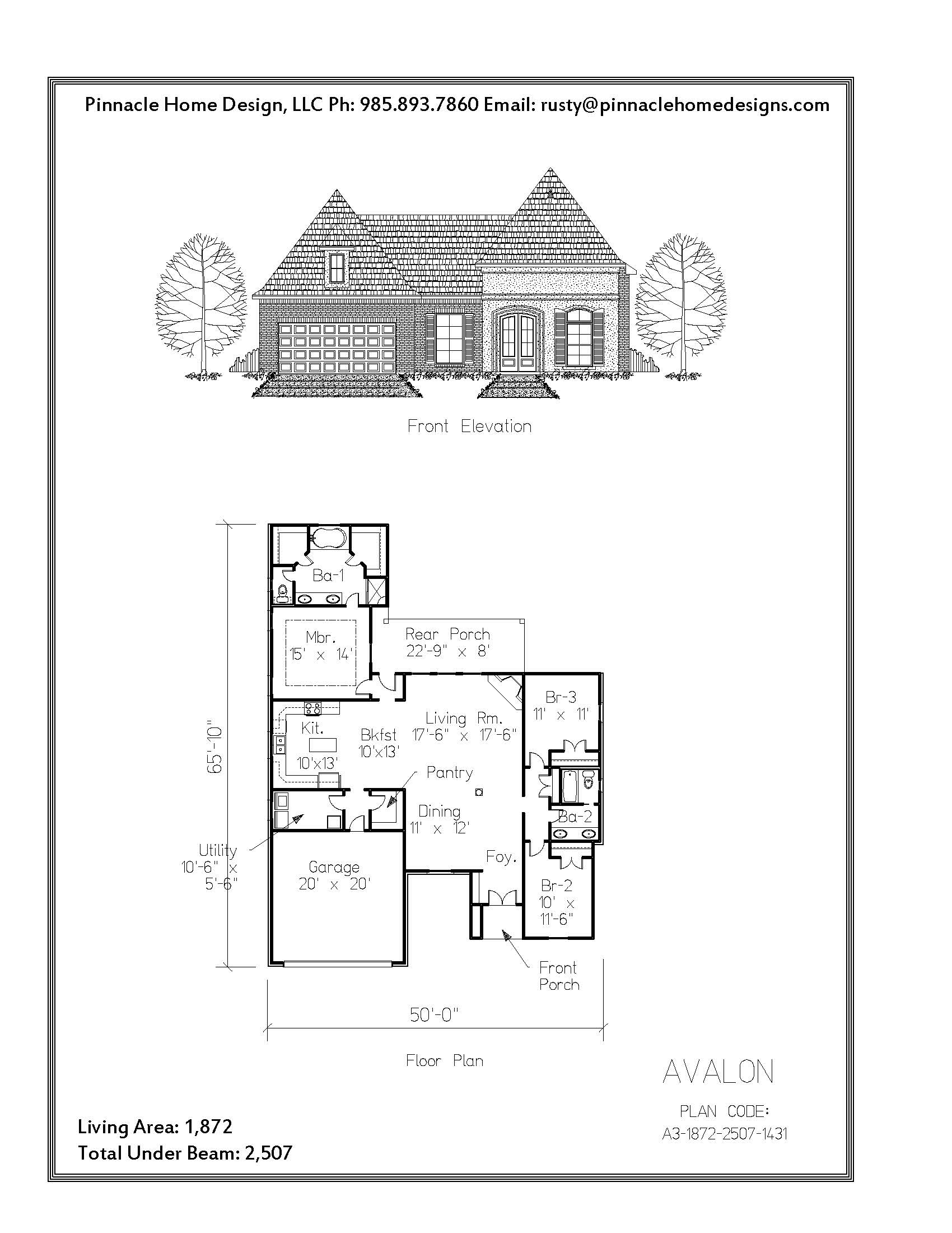 Pinnacle Home Designs The Avalon Floor Plan Pinnacle