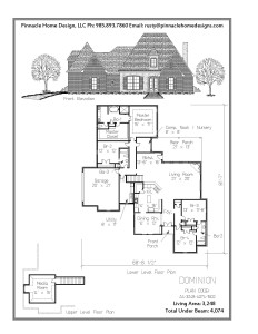 Pinnacle Home Designs The Dominion Floor Plan Pinnacle